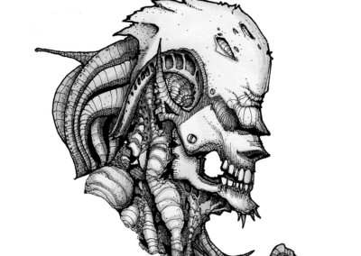 ALIEN - Freehand illustration by CJ Mascarelli.