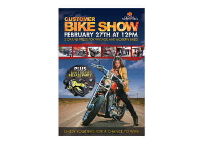 Bike Show Poster Design - Created with Adobe Creative Suite by CJ Mascarelli for GO AZ Motorcycles.