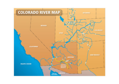 Map Design - Created with Adobe Creative Suite by CJ Mascarelli for Central Arizona Project.
