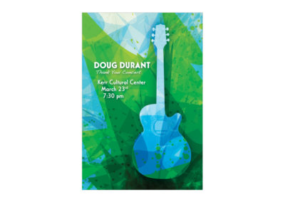Thank You Concert Postcard Design - Created with Adobe Creative Suite by CJ Mascarelli for Doug Durant.