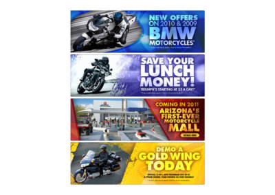 Web Ad Designs - Created with Adobe Creative Suite by CJ Mascarelli for GO AZ Motorcycles.