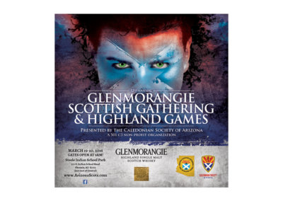 Highland Games Program Design - Created with Adobe Creative Suite by CJ Mascarelli for the Marketing Ideals Company.