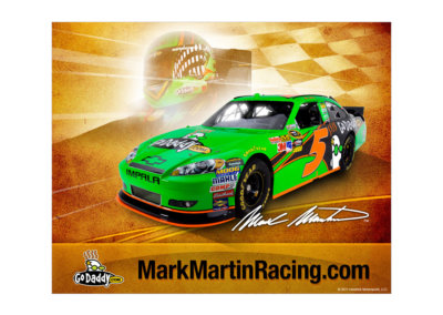 Mark Martin Racing Poster Design - Created with Adobe Creative Suite by CJ Mascarelli for GoDaddy.