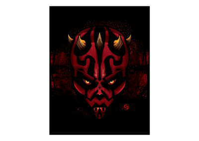 MAUL - Vector-based illustration created with Adobe Illustrator by CJ Mascarelli.