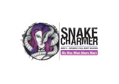 Logo Design created with Adobe Illustrator by CJ Mascarelli for Snake Charmer Body Waxing.